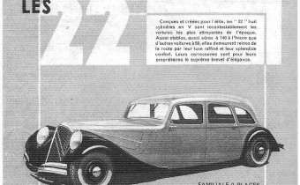 Citroën 22 V8 : la voiture mystère