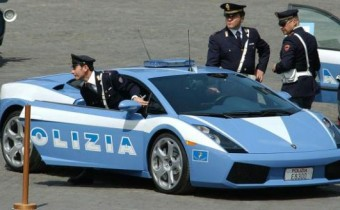 Les Lamborgini Gallardo de la police italienne à Paris