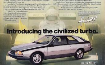 Renault Fuego USA : plus de 40 000 ex tout de même !!!