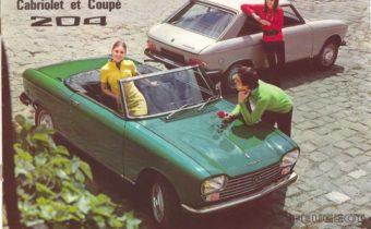 """Peugeot 204 Coupé et cabriolet : le lion à l'heure des """"yéyés"""""""