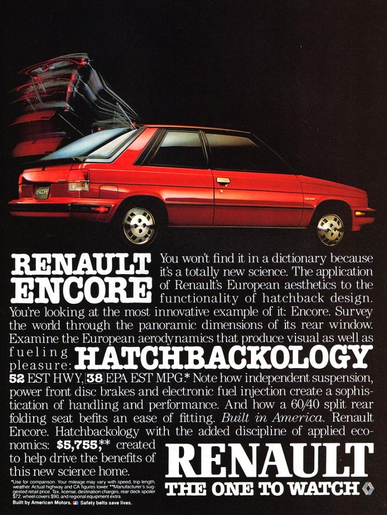 Renault Encore, version américaine de la R11.
