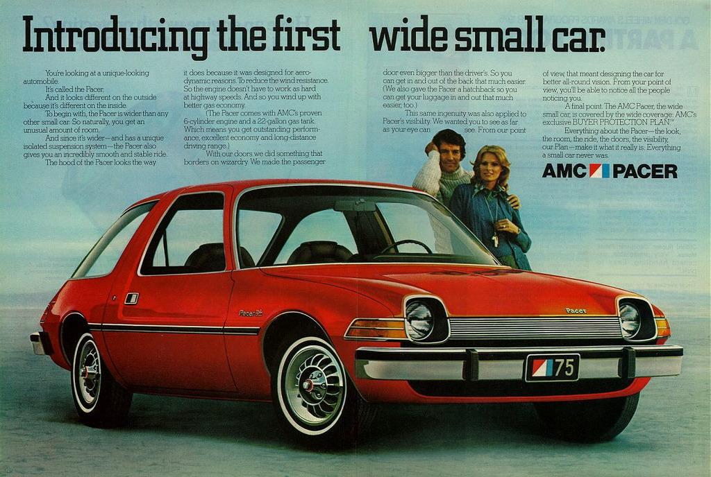 L'AMC Pacer à son lancement en 1975 aux USA