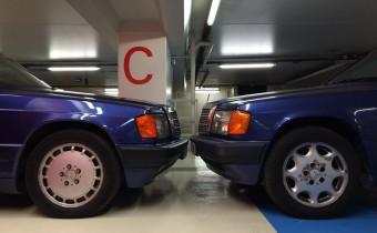 Caisse de lecteur : les Mercedes 190E Azzurro d'Alexandre