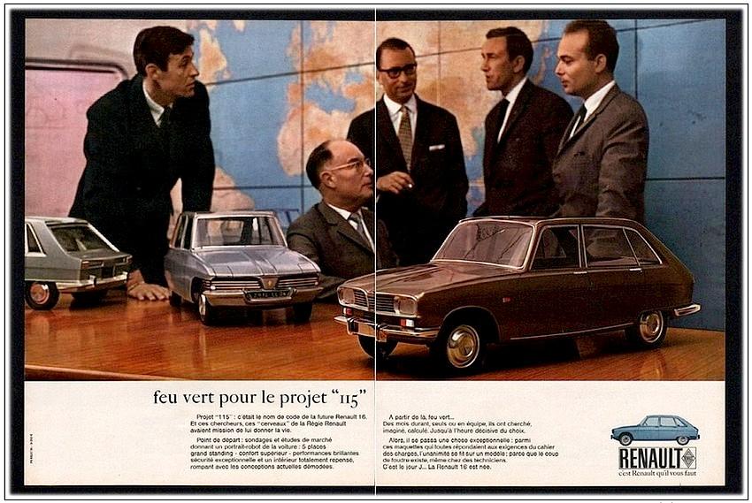 La R16 est une affaire d'homme, à tel point que Publicis utilisera une photo de Yves Georges et son équipe pour annoncer le projet !