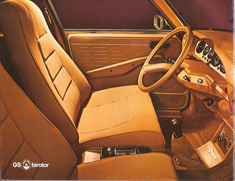 """L'intérieur """"cosy"""" de la GS Birotor, modèle haut de gamme !"""