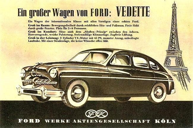 La Ford Vedette qui deviendra Simca après le rachat de Ford SAF