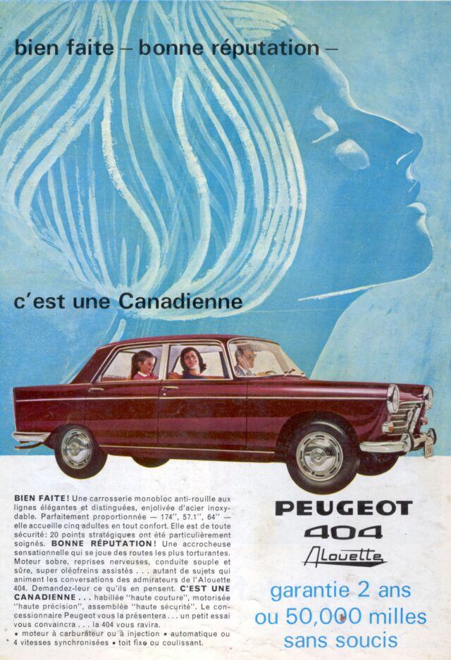 """Les Peugeot sont présentées comme des """"canadiennes"""""""