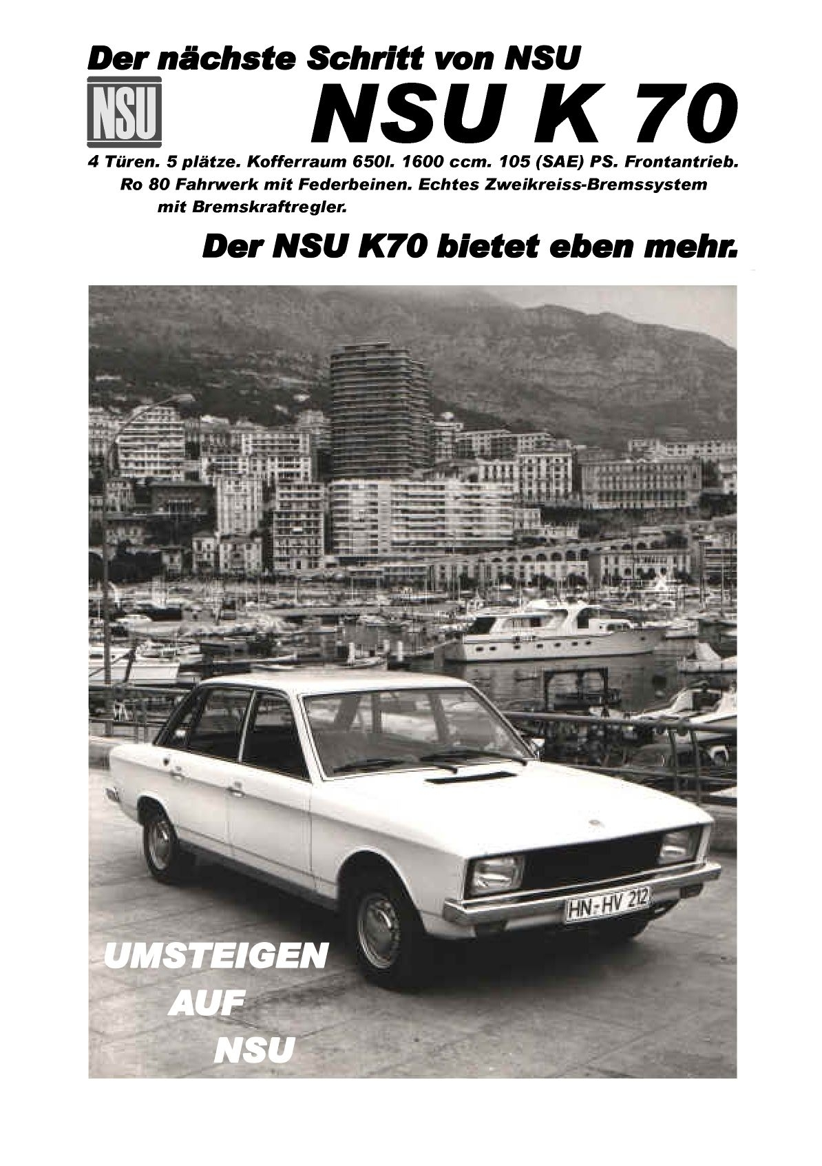 Les publicités NSU étaient prêtes !