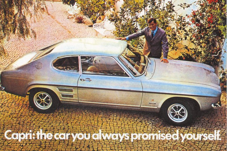 La Capri mk1, avec son look de petite Mustang