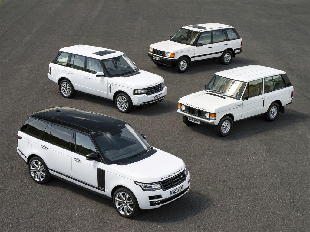 Cette photo des 4 générations de Range permet de bien en voir l'évolution stylistique !