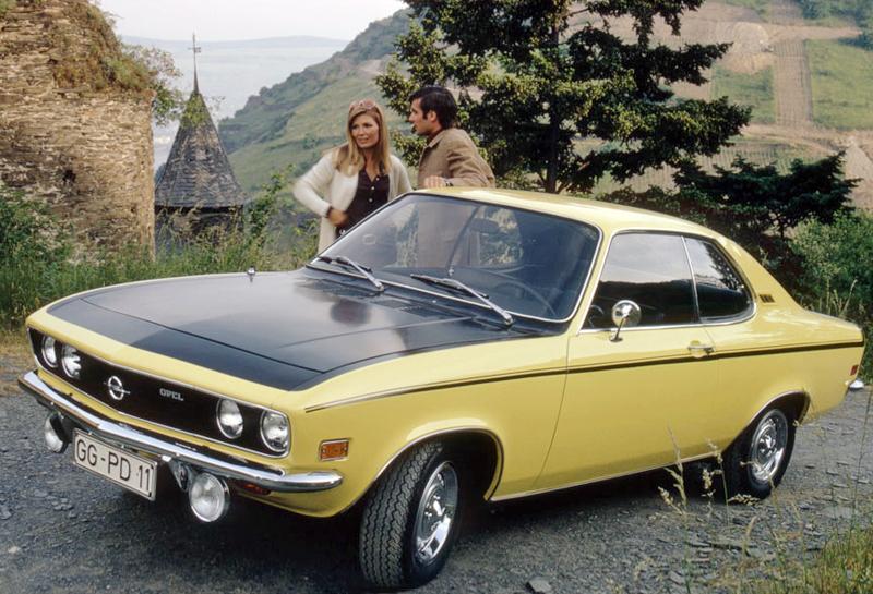 L'Opel Manta (ici une rare SR) s'opposait à la Ford Capri en Europe !