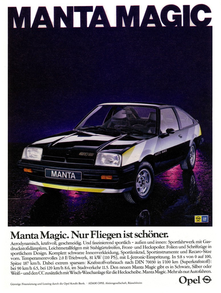 L'Opel Manta B aura droit à sa version Black Magic, beaucoup moins réussie !