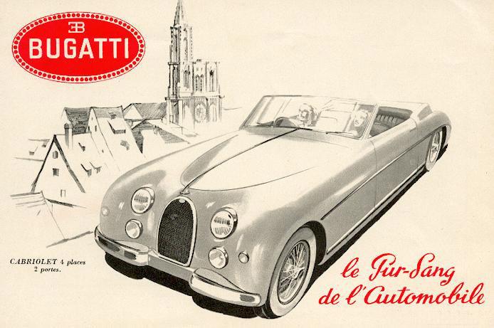 Dépliant publicitaire pour la Type 101 de Bugatti en 1951 !