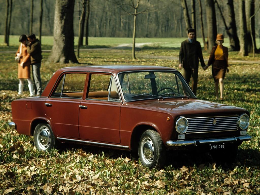 La Fiat 124, sortie en 1966, était une voiture moderne... pour l'époque... !