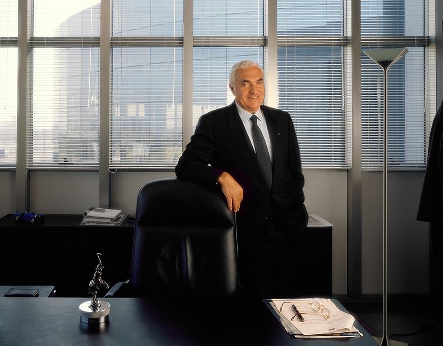 Romano Artioli, du temps de sa splendeur, dans son bureau de Campogalliano !