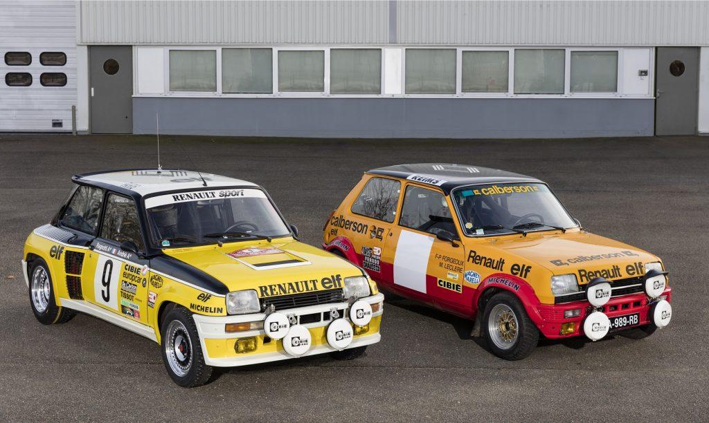 La R5 Alpine Groupe 2 aux côtés d'une R5 Turbo Maxi !