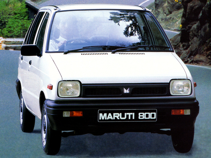 "En 1986, la Maruti 800 prend l'allure de sa soeur Suzuki Alto ""new generation"""