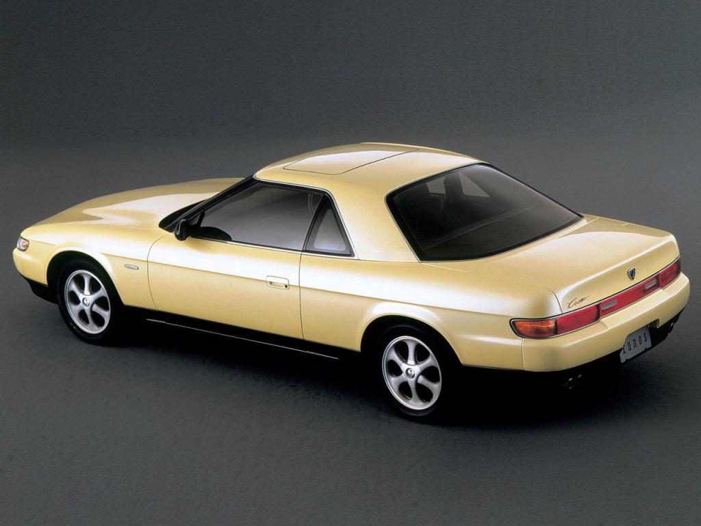 Amati devait enfin disposer d'un coupé basé sur l'Eunos Cosmo à moteur rotatif