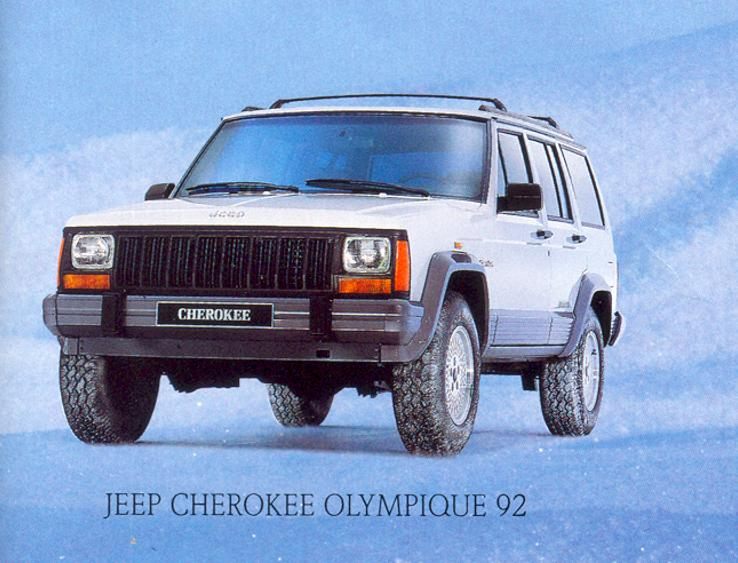 Jeep Cherokee Olympique 92 02