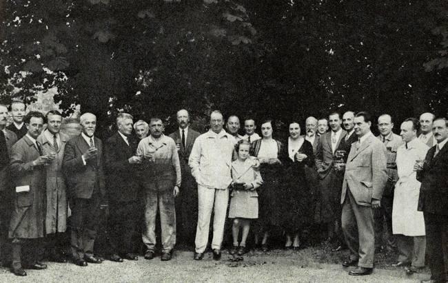 Ettore, au centre, à Molsheim, lieu de son coeur