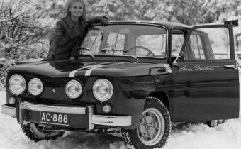 Renault 8 : tête au carré et sac à dos